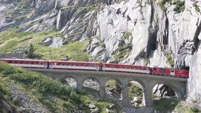czerwony pociąg obraz stock