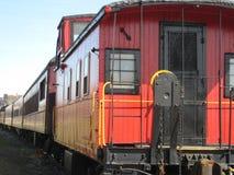czerwony pociąg Zdjęcie Stock
