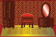Czerwony pokój ilustracja wektor