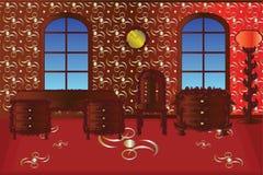 Czerwony pokój ilustracji