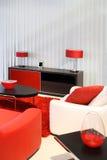 czerwony pokój Fotografia Stock
