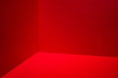 Czerwony pokoju kąt Fotografia Stock