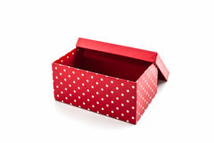 Czerwony polek kropek pudełko Zdjęcie Stock
