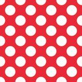 Czerwony polki kropki Bezszwowy wzór Dla szkockiej kraty, tablecloths, odziewają, koszula, suknie, papier, pościel, koc, kołderki ilustracja wektor