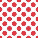 Czerwony polki kropki bezszwowy wzór na białym tle Wektor EPS 10 ilustracja wektor