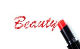 Czerwony pomadki piękna pojęcie Obrazy Royalty Free