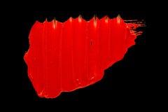 Czerwony pomadki smudge Obrazy Royalty Free