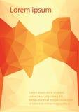 Czerwony pomarańczowy letterhead Fotografia Stock