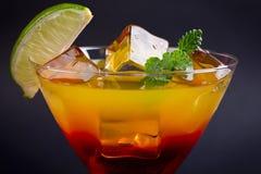 Czerwony pomarańczowy koktajl Zdjęcia Stock