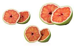 Czerwony pomelo odizolowywający na białym tle Tajlandia Siam pomelo rubinowa owoc Świeży grapefruitowy Naturalny źródło witaminy  zdjęcie royalty free