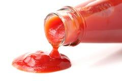 Czerwony pomidorowy ketchup zdjęcie stock