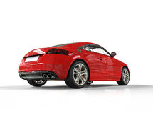 Czerwony Potężny samochodu plecy widok Obrazy Royalty Free
