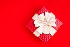 czerwony prezent Zdjęcie Royalty Free