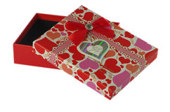 Czerwony prezent Zdjęcia Royalty Free