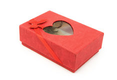 Czerwony prezenta pudełko Zdjęcia Stock