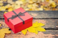 Czerwony prezenta pudełko zdjęcia royalty free