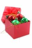 Czerwony prezenta pudełko dla świętowania Obrazy Royalty Free