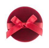 Czerwony prezenta pudełko dla biżuterii Fotografia Stock
