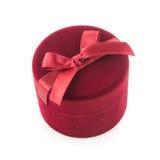 Czerwony prezenta pudełko dla biżuterii Obrazy Royalty Free