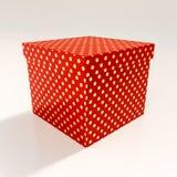 Czerwony prezenta pudełko Fotografia Royalty Free