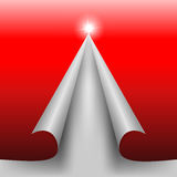 Czerwony projekta cięcia papier w formie Bożenarodzeniowej sosny Zdjęcia Royalty Free