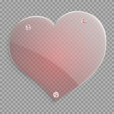 Czerwony przejrzysty serce ilustracji