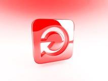 czerwony przycisk Obraz Stock