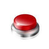 czerwony przycisk ilustracji