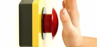 czerwony przycisk paniki Zdjęcie Royalty Free
