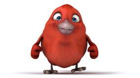 Czerwony ptak ilustracja wektor