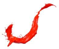 Czerwony pyłu wybuch odizolowywający na czarnym tle zdjęcia royalty free