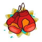 czerwony 2 rękawic bokserskich Zdjęcie Stock