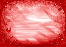 czerwony ramowej miłości Fotografia Royalty Free