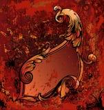 czerwony ramowy rocznik Zdjęcie Royalty Free
