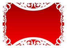 czerwony ramowy wektora Zdjęcia Stock