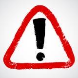 Czerwony ręcznie malowany znak ostrzegawczy Obraz Stock