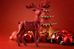 czerwony renifer Obraz Royalty Free