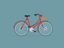 Czerwony retro bicykl Obraz Royalty Free