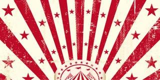 Czerwony retro cyrkowy zaproszenie Obraz Royalty Free