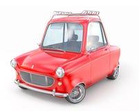 Czerwony retro samochód odizolowywający na bielu Obrazy Stock