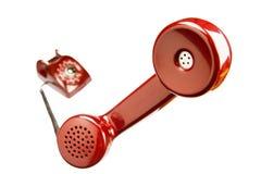 Czerwony retro telefon Fotografia Royalty Free