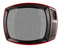 Czerwony retro tv Obrazy Stock
