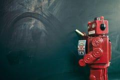 Czerwony robot z kredowym bardem Obraz Stock