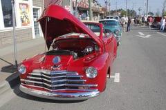 Czerwony rocznik 1947 Chevrolet Cabriola Zdjęcie Stock