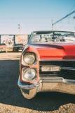 Czerwony rocznika amerykanina kabriolet Zdjęcie Stock