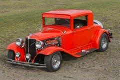 Czerwony rocznika samochód Zdjęcie Stock