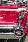 Czerwony rocznika samochodu tyły Fotografia Royalty Free