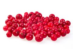 Czerwony rodzynek, cranberries, marznący Makro-, marznący organicznie Czerwony rodzynek, Fotografia Royalty Free