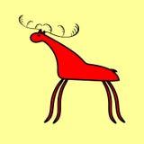 Czerwony rogacz lub łosia amerykańskiego etniczny ornament Zdjęcia Royalty Free