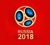 Czerwony Rosja 2018 pucharów świata futbolu tło Obrazy Stock